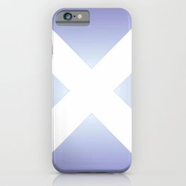 flag of scotland - with color gradient iPhone Case