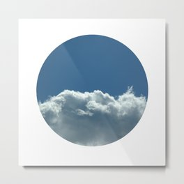 Blue+White Metal Print