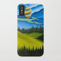 hot air balloons iPhone & iPod Cases featuring Acrylic Hot Air Balloons by Megan White