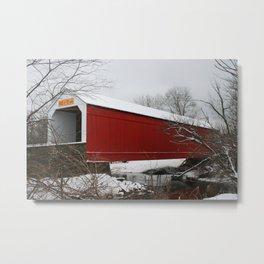 Mood's Covered Bridge Metal Print