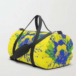 Green, blue, yellow soccer ball Duffle Bag