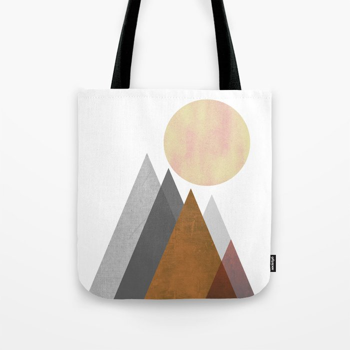 The Gathering, Geometric Landscape Art Tote Bag