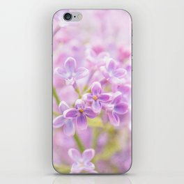 Lilac Flowers Mist iPhone Skin