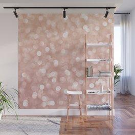 Rosegold Glitter Bokeh Glam Pattern Wall Mural