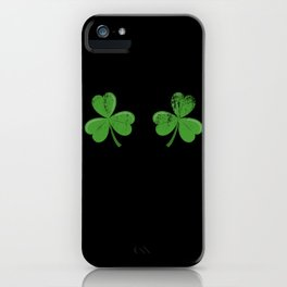 Funny Irish Shamrocks Boobs design Celtic Saint Patrick Day iPhone Case