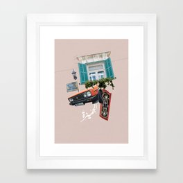 Psychedelic Gemmayzeh - Beirut  Framed Art Print