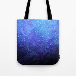 Blue Heavens: Vibrant Starfield Tote Bag