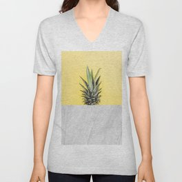 Pineapple and marble Unisex V-Neck