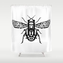 Beetle Type Shower Curtain