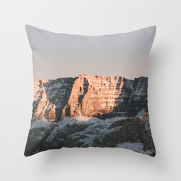 Dolomites | Nature and Landscape Photography Throw Pillow