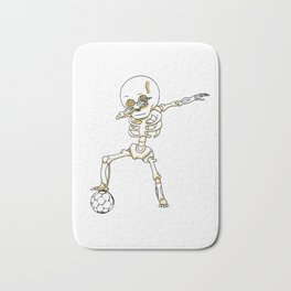 Dabbing Skeleton Cute Funny Dab Dance Bath Mat