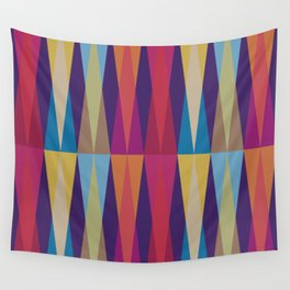Party Argyle on Purple Wall Tapestry