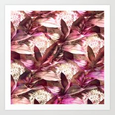 Flowers and Leaves - A Pattern Art Print