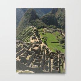 Machu Picchu Ruins Metal Print