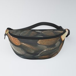 Brown shades of wood Fanny Pack