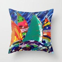 Yacht Race - Baggy Wrinkle Throw Pillow