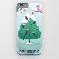 Happy Holidays - A Parrots Christmas  iPhone 6 Slim Case