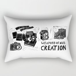 Weapons Of Mass Creation - Photography (blockprint) Rectangular Pillow