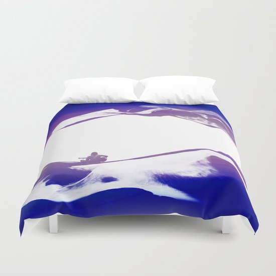 Purple Song of isolation Duvet Cover
