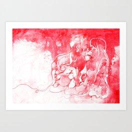 Love Is Red Art Print