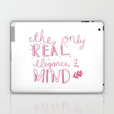 elegance is in the mind (pink) Laptop & iPad Skin