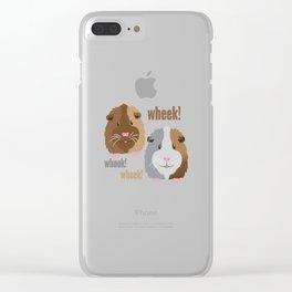 Wheek Wheek Guinea Pigs Clear iPhone Case