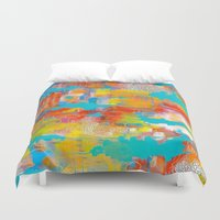 western Duvet Covers featuring Western Mind by WILLING