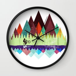 MTB retro Trails Wall Clock