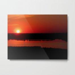 The Setting Sun Metal Print
