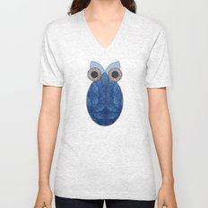 The Denim Owl #02 Unisex V-Neck