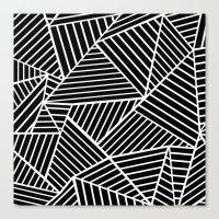 Ab Lines Zoom Black Canvas Print
