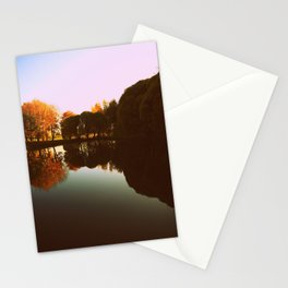 trees reflections Stationery Cards