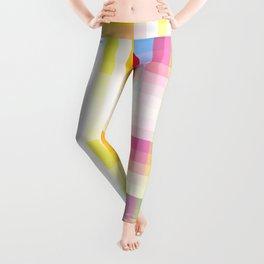 colorful retro grid pattern Nguru Leggings