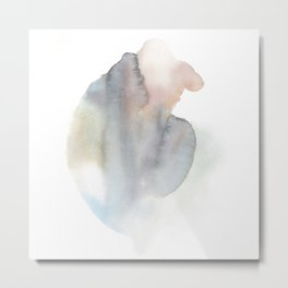 Abstract Watercolor Energy Body 2 Metal Print