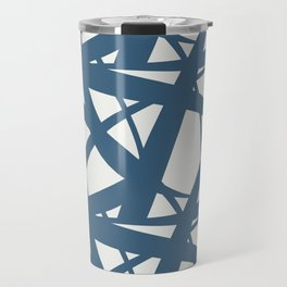 Blue & Off White Abstract Mosaic Pattern 3 Pairs To 2020 Color of the Year Chinese Porcelain Travel Mug