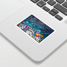 Space Chickens Sticker