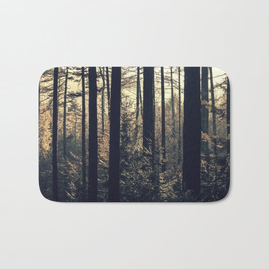 Light in the forest Bath Mat