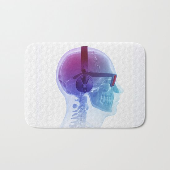 Electronic Music Fan Bath Mat