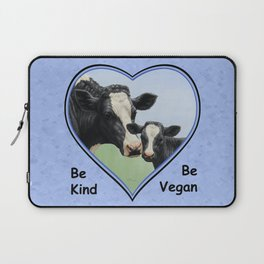 Holstein Cow and Calf Vegan Laptop Sleeve