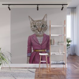 cat Mrs Wall Mural