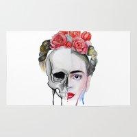 frida kahlo Area & Throw Rugs featuring Frida Kahlo  by Karol Gallegos Carrera