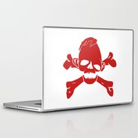 goonies Laptop & iPad Skins featuring Goonies Never say die Red by Komrod
