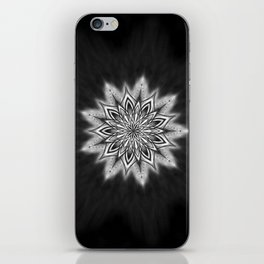 Black Ice Mandala Swirl iPhone Skin