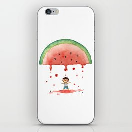 Rain me some watermelon juice iPhone Skin