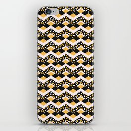 Trendy Leaf Chevron Stripes iPhone Skin