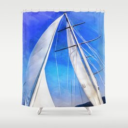 Sailing Unties The Knots Of My Mind Shower Curtain