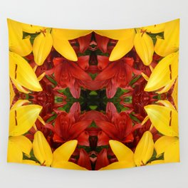 """""""A Gathering of Lilies"""" Remix - 4 (2-1) [D4469~57] Wall Tapestry"""