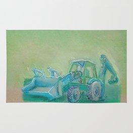 Traktor blue Rug