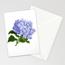 Purple Aquarelle Roses Stationery Cards