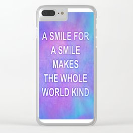 A smile for a smile... Clear iPhone Case